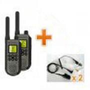 Talkie-Walkie Motorola avec oreillettes - 2 talkie-walkie + 2 oreillettes PRO Bodyguard