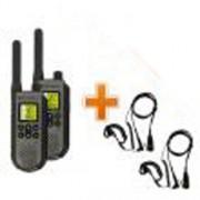 Talkie-Walkie Motorola T7 + Oreillettes micro écouteur confort - 2 talkie-walkie + 2 micro écouteurs confort