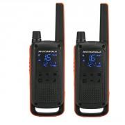 Talkie Walkie Motorola T82 - Pack de 2 talkies robustes, certifiés IPX2