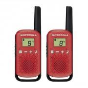 Talkie walkie Motorola TLKR T42 - Rouge - Talkie sans licence pour loisirs