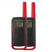 Talkie walkie Motorola TLKR T62 - Rouge - PMR446, portée 8km