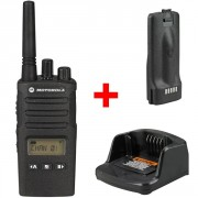 Talkie walkie Motorola XT460 - Talkie sans licence robuste (IP55) avec écran LCD