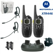 Talkie-Walkie Motorola XTR446 fonctions multiples - Talkie Walkie portée 8 km avec kit oreillettes