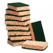 TAMPON JEX Lot de 10 tampon-éponges végétales rectangulaires vert - Scotch Brite™