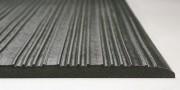 Tapis anti-fatigue - Effet amortisseur  - revêtement  en PVC gris  - résistant à l'usure - bords biseautés