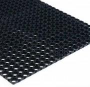 Tapis caillebotis noir - Souple et dense - Classement au feu M3 - Dim : 100x150 cm