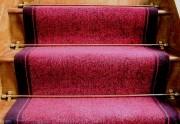 Tapis d'escalier tissé sur métier wilton