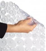 Tapis de douche - Dimensions : L 35 x l 70 ou L 54 x l 54 - PVC antibactérien translucide