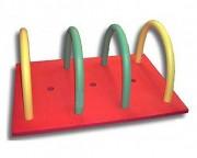 Tapis de piscine flottant avec frites