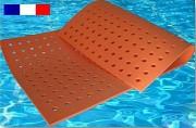Tapis piscine à trous - Dimensions (L x l x E) : 2 x 1 x 0.15 m