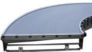 Tapis transporteur à bande courbe - Double courbe à mailles