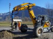 Tarière hydraulique 22 tonnes - Pour pelle, télescopique et chargeur - De 7 à 22 tonnes