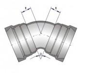 Té ALPINAL à 3 emboîtures et joint UNIVERSAL DN 80 - Raccords ALPINAL (à double chambre) non verrouillés