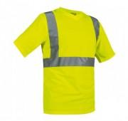 Tee shirt col V de signalisation - Coloris : Jaune fluorescent, orange fluorescent / Tailles : S à XXXL