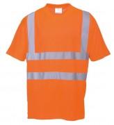 Tee shirt de signalisation orange - Norme EN 471 classe 2:2 - 100% polyester nid d'abeille