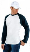 Tee-shirt personnalisable manches longues homme jersey - T-shirt personnalisé manches longues homme