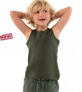 Tee-shirt personnalisable sans manches enfant côte 1x1 - T-shirt personnalisé sans manches enfant