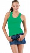 Tee-shirt personnalisable sans manches femme côte 1x1 - T-shirt personnalisé sans manches tendance femme