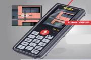Télémètre laser écran couleur - Précision : +- 1 mm
