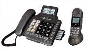 Téléphone amplifié grandes touches - Pack duo : 1 téléphone filaire + 1 sans fil