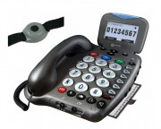 Téléphone avec bracelet d'appel d'urgence