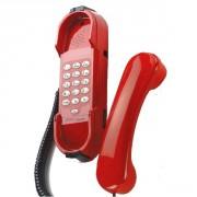 Téléphone Depaepe HD2000 avec clavier rouge - Poste mural de sécurité