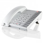 Téléphone Depaepe Premium 200 Blanc - Téléphone filaire avec prise casque