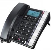 Téléphone Depaepe Premium 300 - Téléphone filaire haut de gamme, répertoire 100 contacts