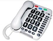 Téléphone filaire à grosses touches - Compatible appareil auditif
