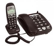 Téléphone filaire fixe avec combiné sans fil