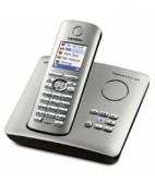 Téléphone IP Siemens Gigaset S455 SIM - Téléphone sans fil DECT avec répondeur intégré et lecteur de carte SIM (coloris titane) (Version Francaise)