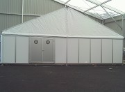 Tente aluminium avec bardage - Structure aluminium bâchée