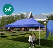 Tente d'événement pliable 3 x 6 m - Dimensions (Lxh) : 3000 x 6000 mm