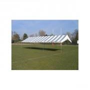 Tente de réception 6x12 pour collectivité - Surface : 6x12 - 72 m² (Toit Rayé en couleur+Armature)