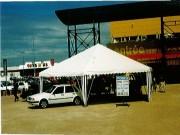 Tente de réception blanche - Surface disponible :  de 14 m² à  65 m²