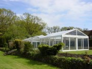 Tente de réception carrée - Largeur  de 3 à 10 m-hauteur de 2.30m