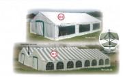 Tente de réception professionnelle 8 x 16 mètres - Dimensions (Lxl) : de 5 x 4 à 8 x 16 m