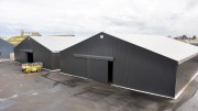 Tente de stockage provisoire - 100 % acier galvanisé selon ISO 1461