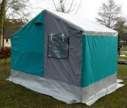 Tente esterel - Longueur 3.55 m – Largeur 2.50 m - Hauteur centrale : 2,80 m