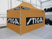 Tente gazebo chapiteau - Tentes en tissus polyester, avec armature en aluminium