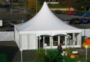 Tente pagode 10x10 pour collectivité - Surface : 100 m²  (toit + armature).