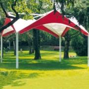 Tente pagode aluminium - Surface de 16 à 25 m²