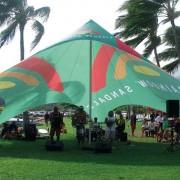 Tente personnalisée en toile - Structure polyester imperméable anti - UV