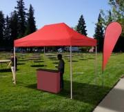 Tente pliable en acier - Dimension (Lxh) : 2000 x 3000 mm