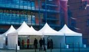Tente pliante 5 x 5 mètres - Matériaux Alu / PVC / fibre de verre