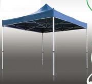 Tente pliante structure en aluminium anodisé - Dimensions : 3 m x 4,5 m - murs pleins - plusieurs options d'habillage disponibles