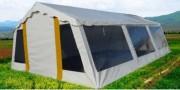 Tente polyforum - Longueur : 11m Largeur 5 m - Hauteur centrale : 2,50 m