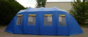 Tente tunnel gonflable - Système pneumatique haute pression pour montage