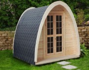 Tente yourte en bois - En bois massif - Dimensions : L 4.00 m / l : 2.40 m / H : 2.33 m