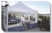 Tentes pliantes professionnelles - Impression totale par sublimation